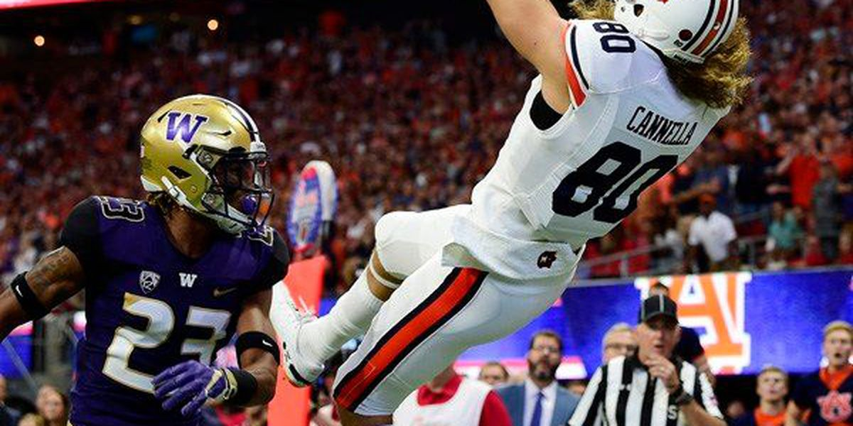 Late score lifts No. 9 Auburn over No. 6 Washington in Chick-fil-A Kickoff