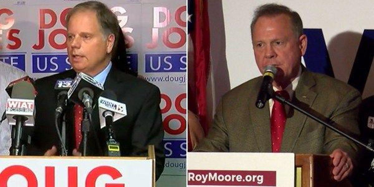 Moore, Jones both in Montgomery Wednesday