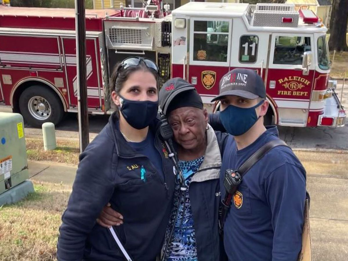 Firefighters raise money for elderly woman who lost son's ashes in house fire