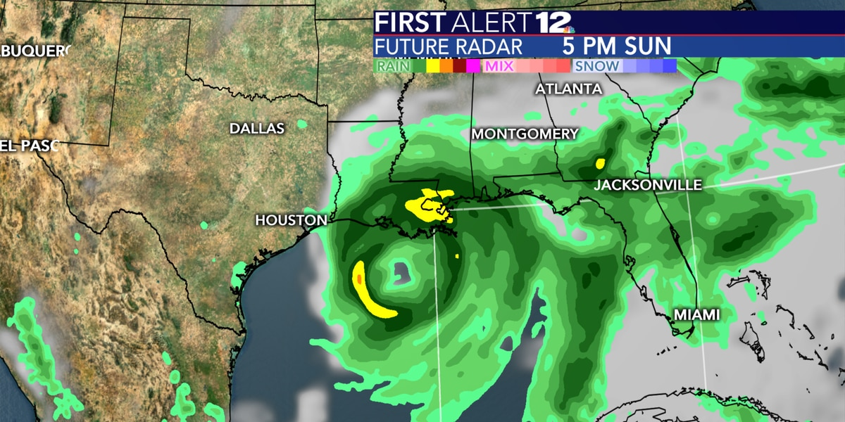 Cristobal's outer bands already bringing rain to parts of Alabama