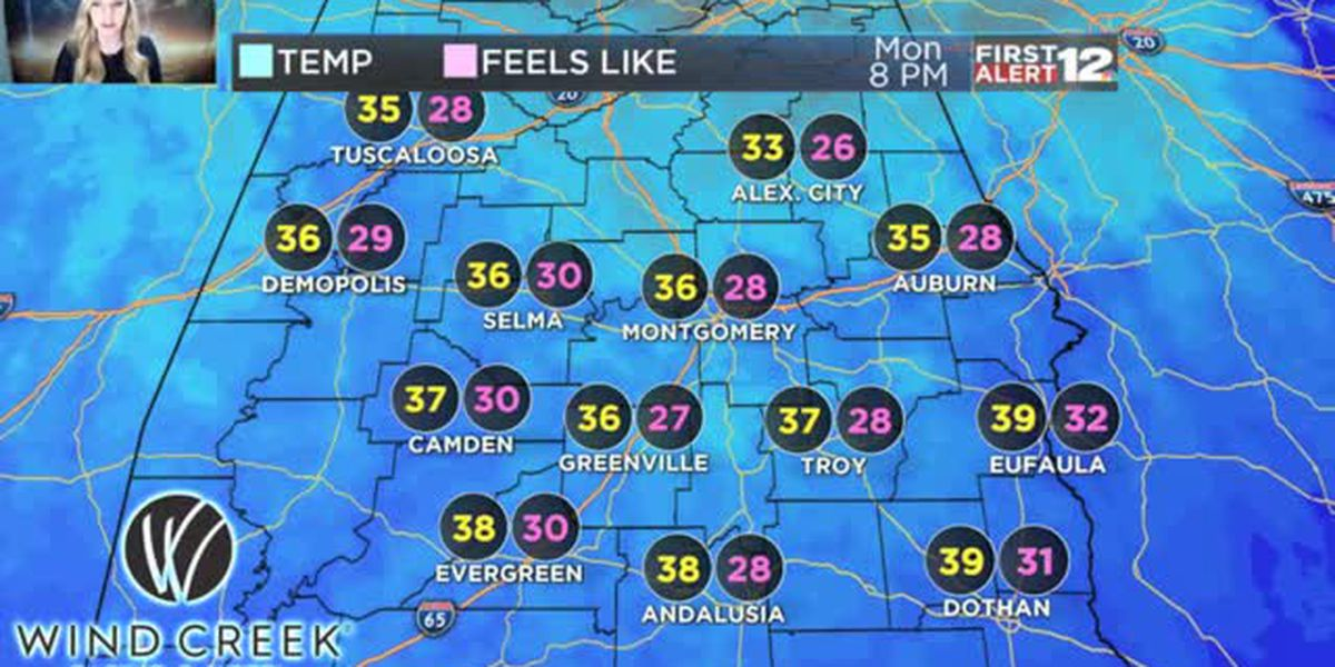 Wind chills in the low 20s? It's in our future...
