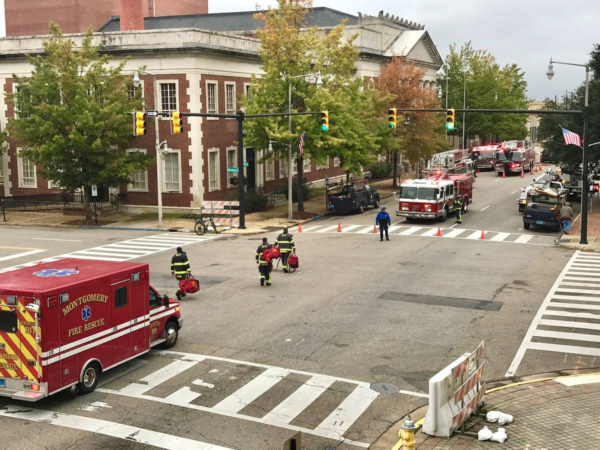 Montgomery City Hall evacuated due to light smoke