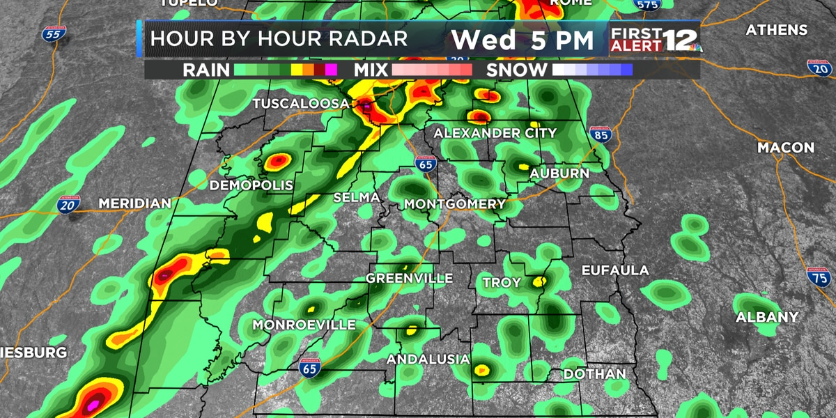 First Alert: More rain, and some storms, likely Wednesday