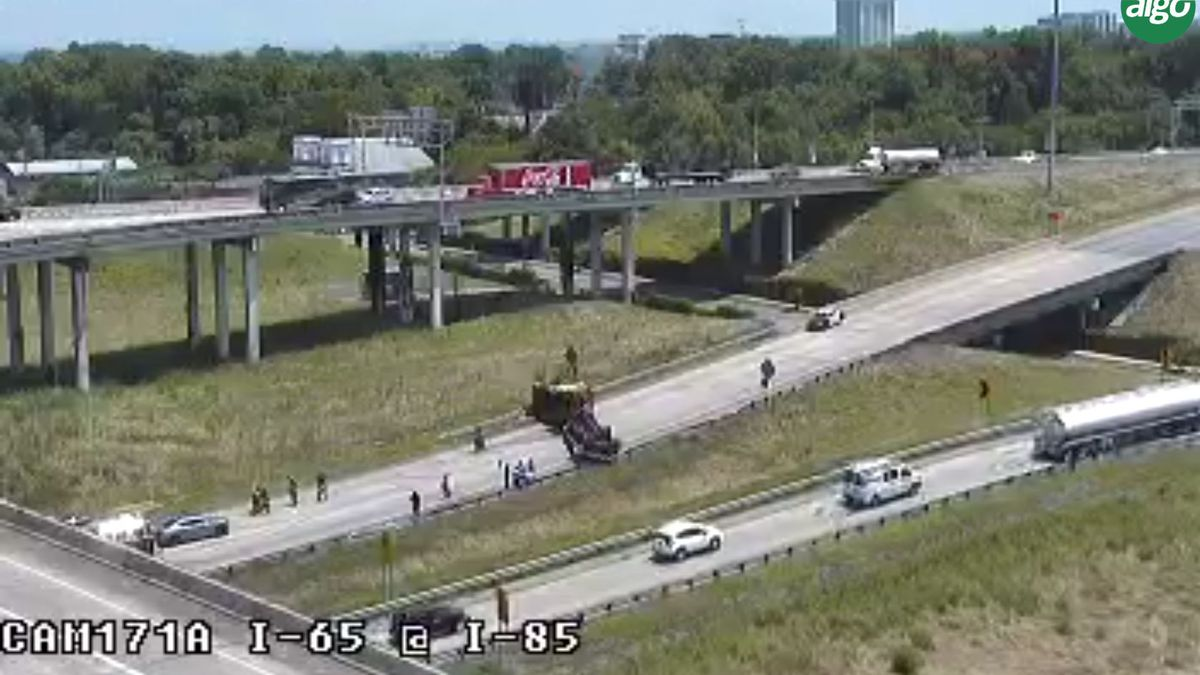 I-65/85 interchange reopens after overturned 18-wheeler removed