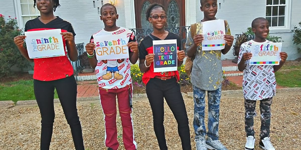 Montgomery family schools children online while circling the globe