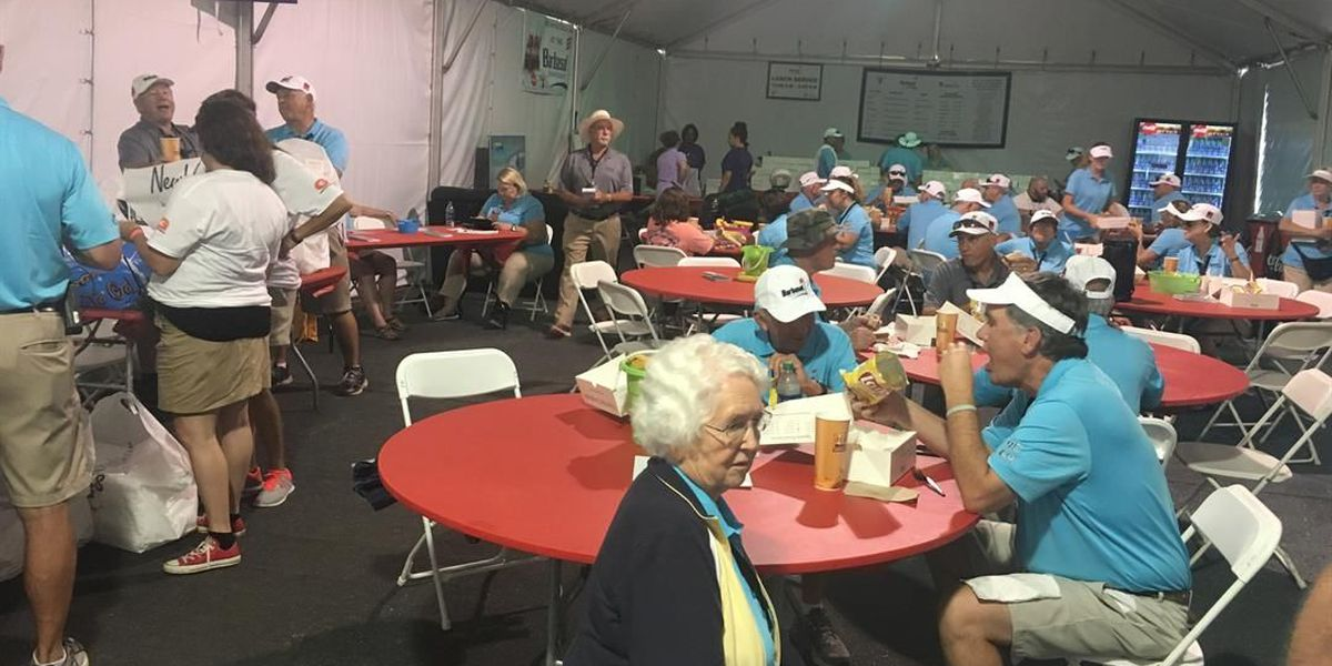 Volunteers come from near and far at the Barbasol Championship