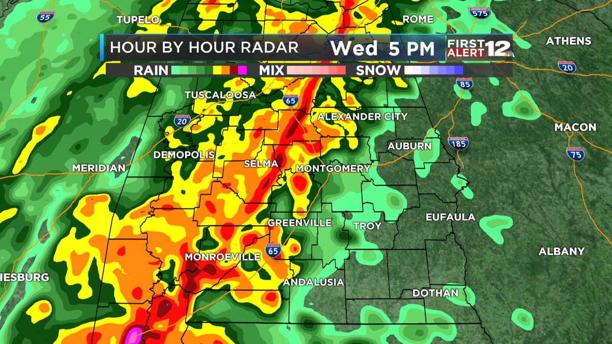 First Alert: Wet, potentially stormy Wednesday expected