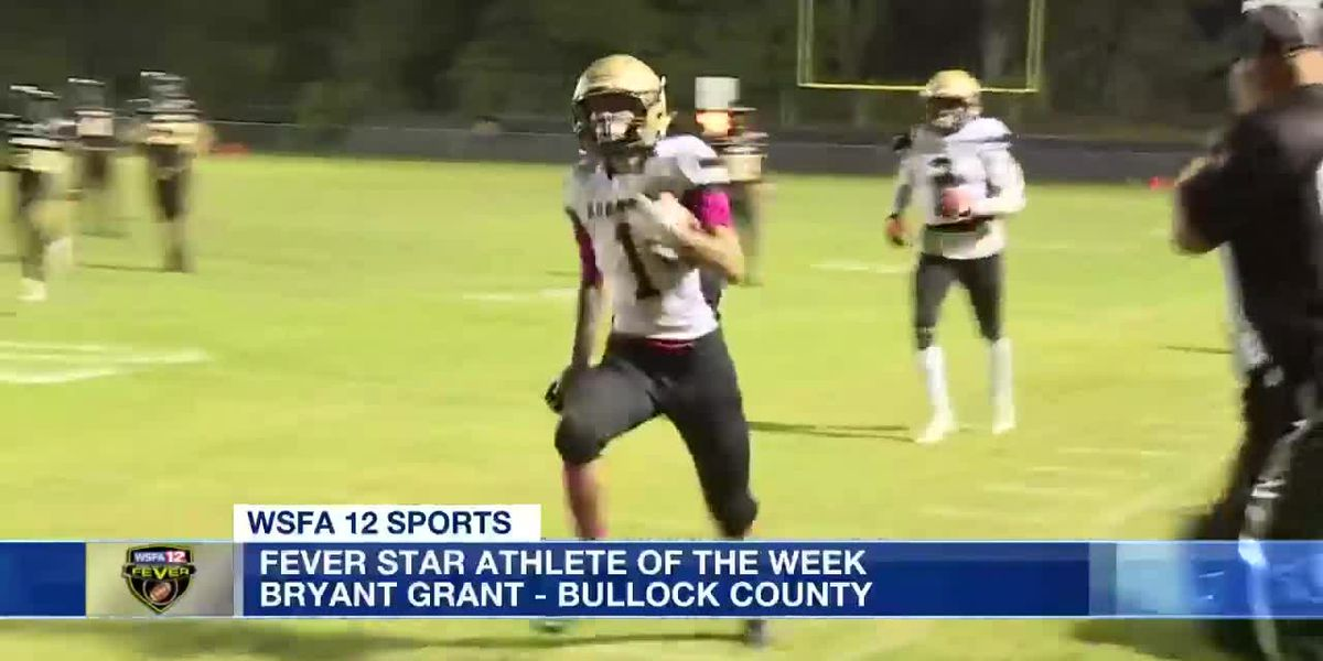 Bullock County's Bryant Grant wins Fever Star Athlete of the Week