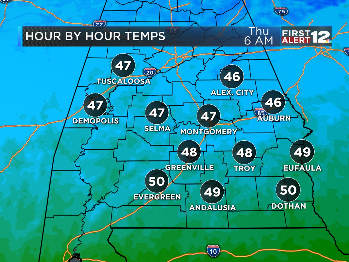 Drying out and turning cold tonight!