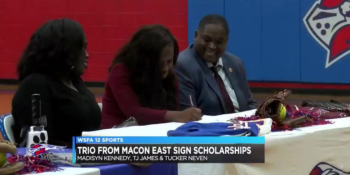 Trio of Macon East athletes sign scholarship