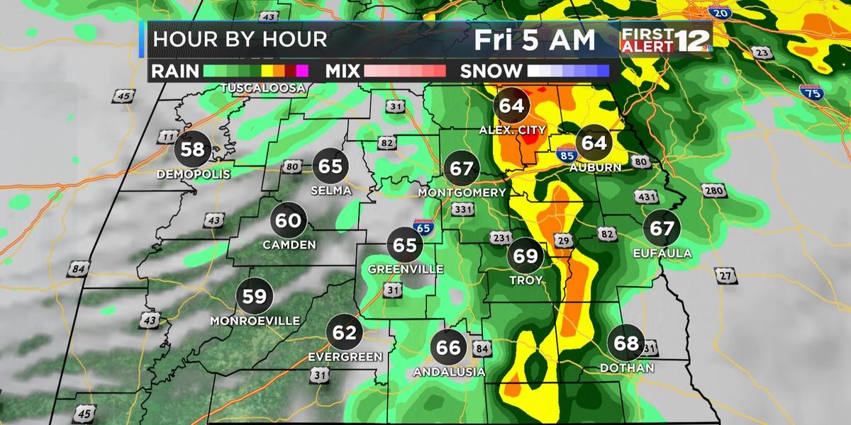 First Alert: Heavy rain tonight, early tomorrow