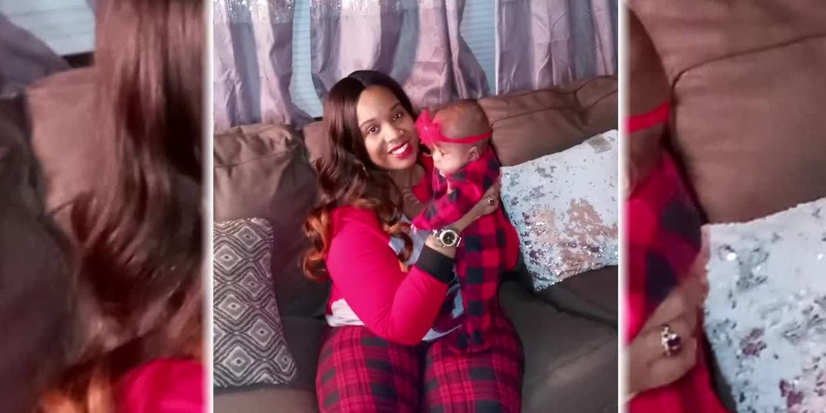 Mom and baby's first Christmas