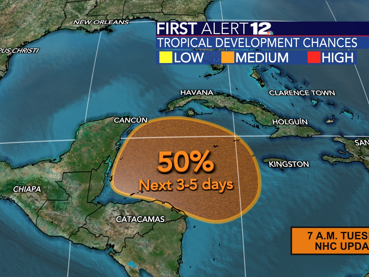 Odds of next named storm increasing in Caribbean; any risk to Gulf?