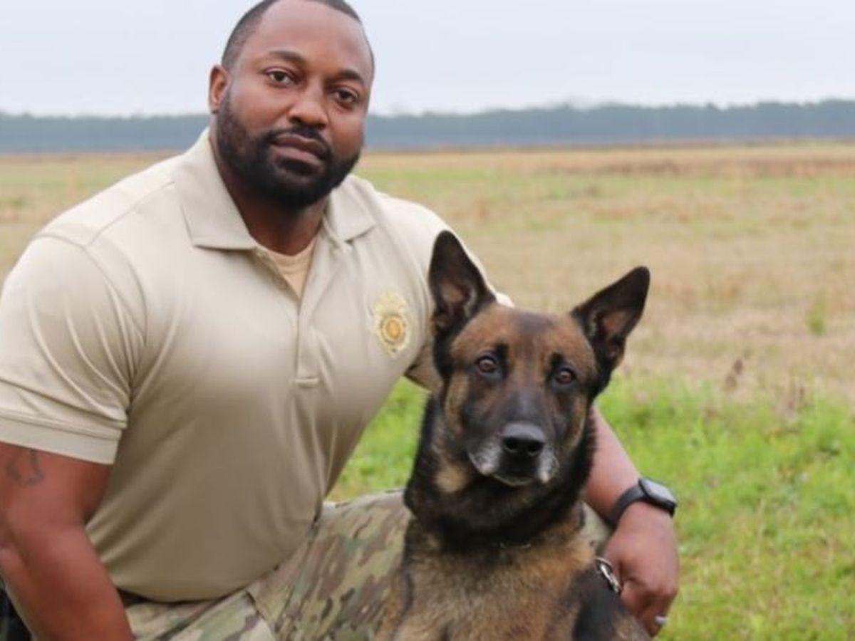 K9 Officer 'Jake' dies days after Ala. prison drug search