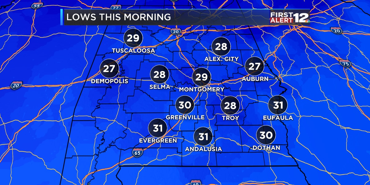 First Alert: Cold start to the workweek