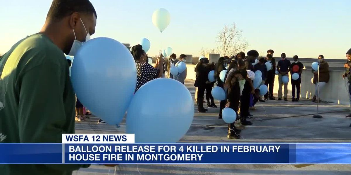 Balloon release for 4 killed in February house fire in Montgomery