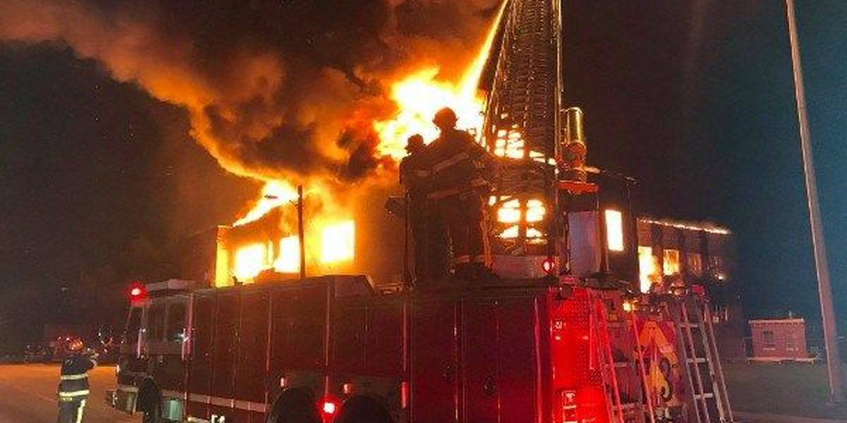 Slideshow: Fire destroys part of BTW Magnet School