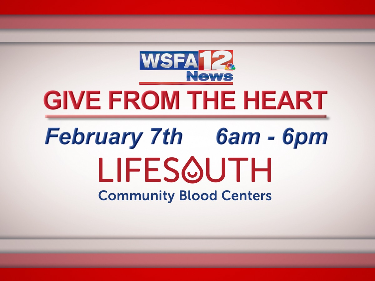 Give from the Heart blood drive coming up in February
