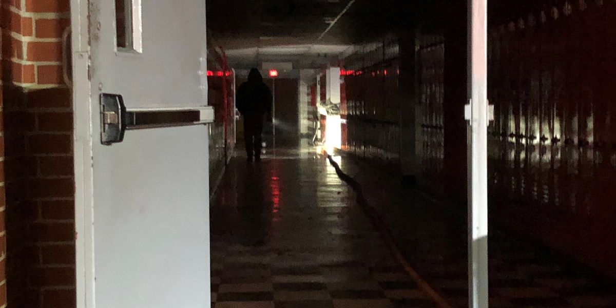 Houston County high school science lab damaged in fire