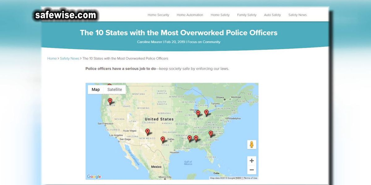 Alabama officers ranked second most overworked in nation, study says