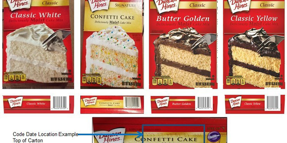 Duncan Hines recalls several cake mixes due to salmonella risk