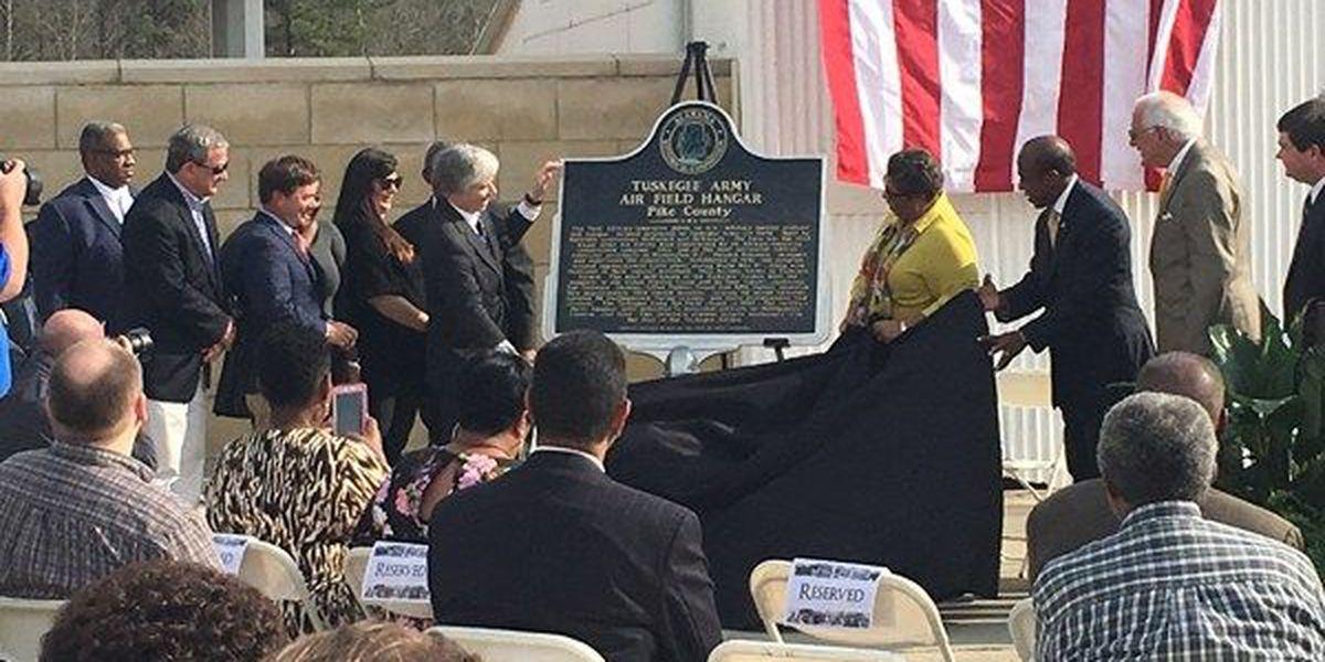 Tuskegee Airmen hangar receives historical marking in Troy