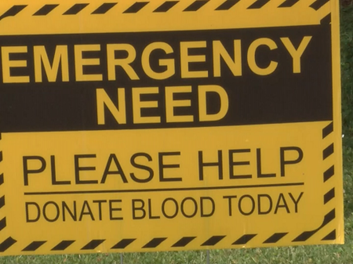 Blood donors needed due to critically low supply