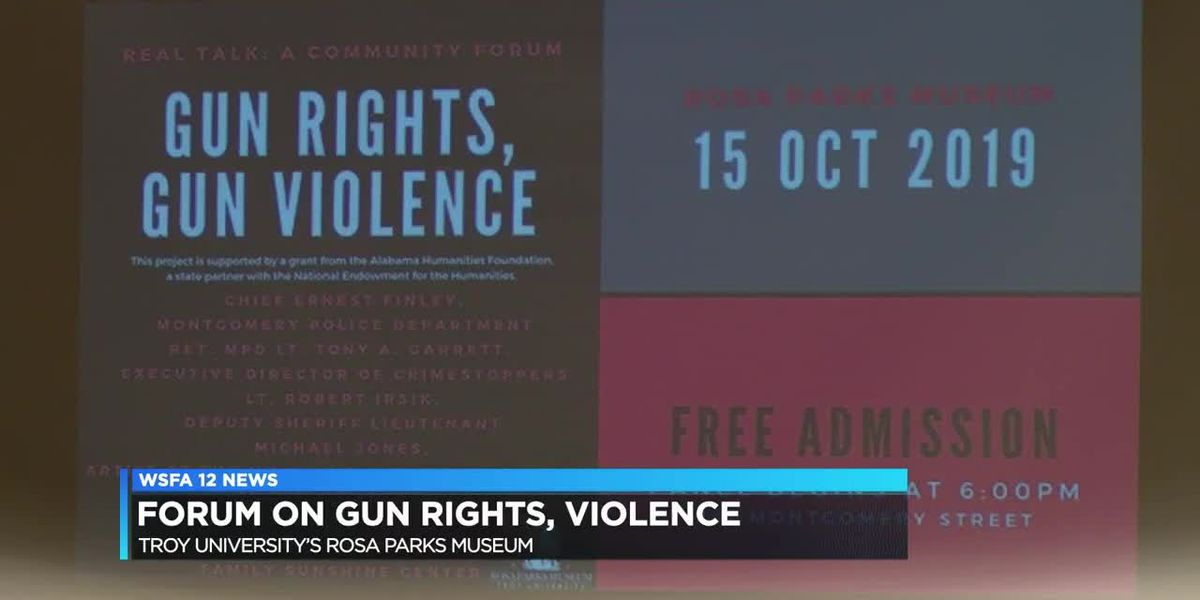 Forum on gun rights, violence held in Montgomery