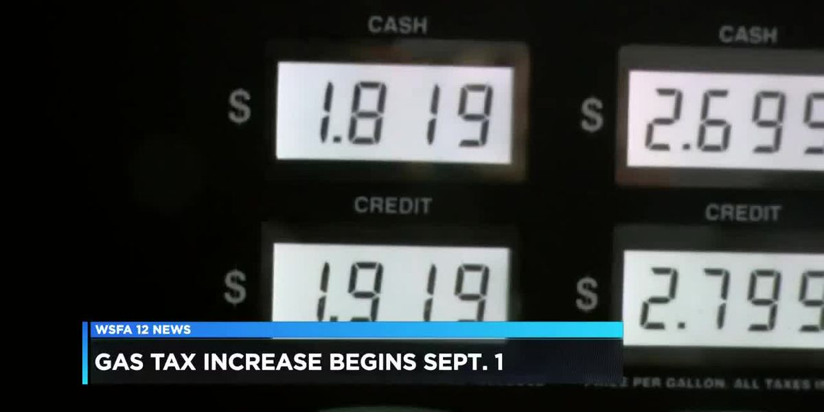 Gas tax set to increase in September