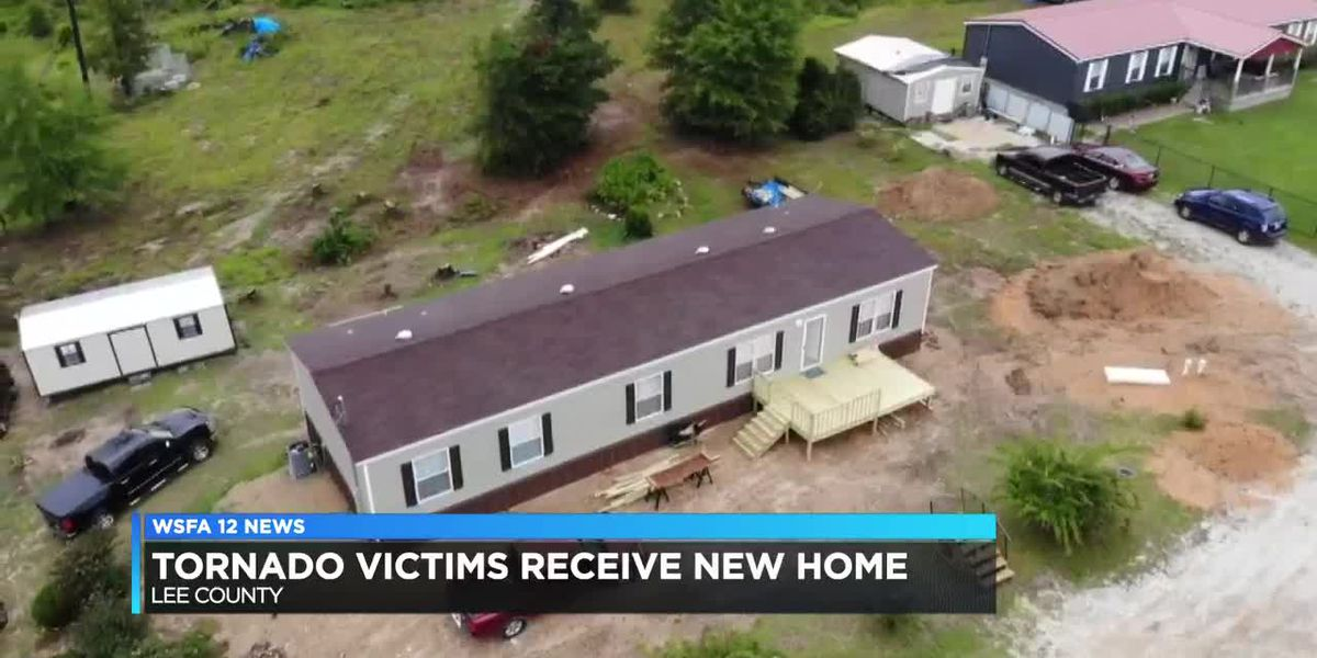 Lee County tornado victims receive new home
