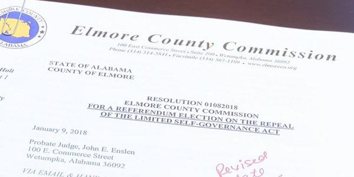 Fate of Elmore County's 'Limited Self Governance Act' set for vote