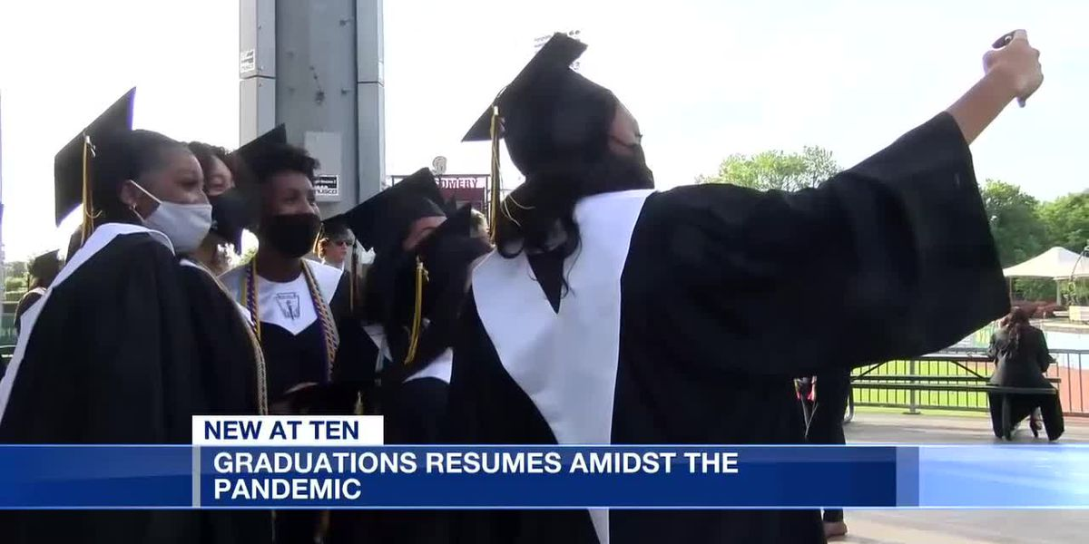 High school graduations resume amid pandemic