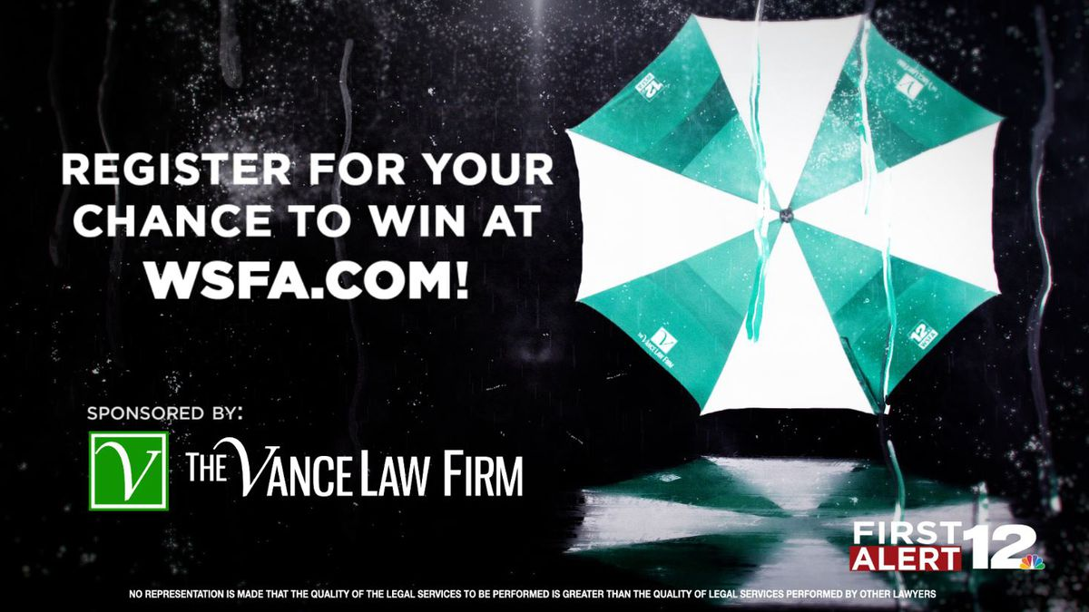 WSFA 12 News and The Vance Law Firm Umbrella Contest