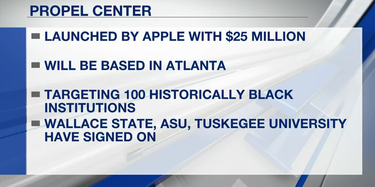 Apple Propel Center to help three Alabama colleges