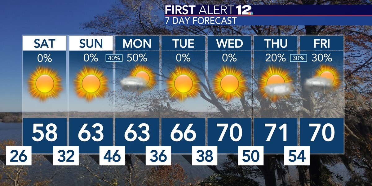 Sunshine, much warmer temps headline the next week