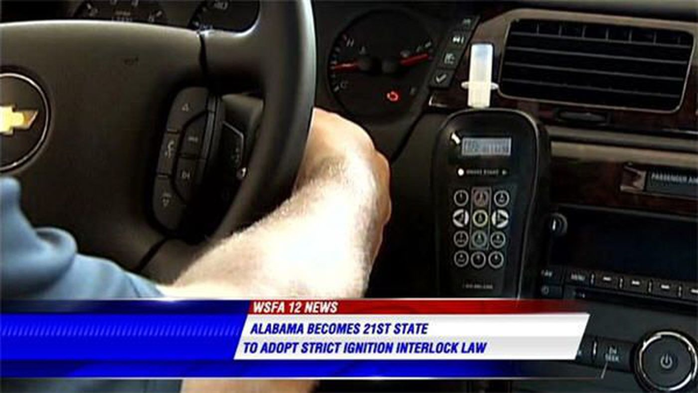Alabama Is 21st State To Pass Ignition Interlock Law
