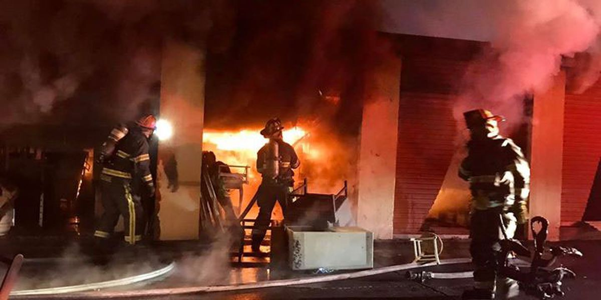 Montgomery mini storage facility catches fire overnight