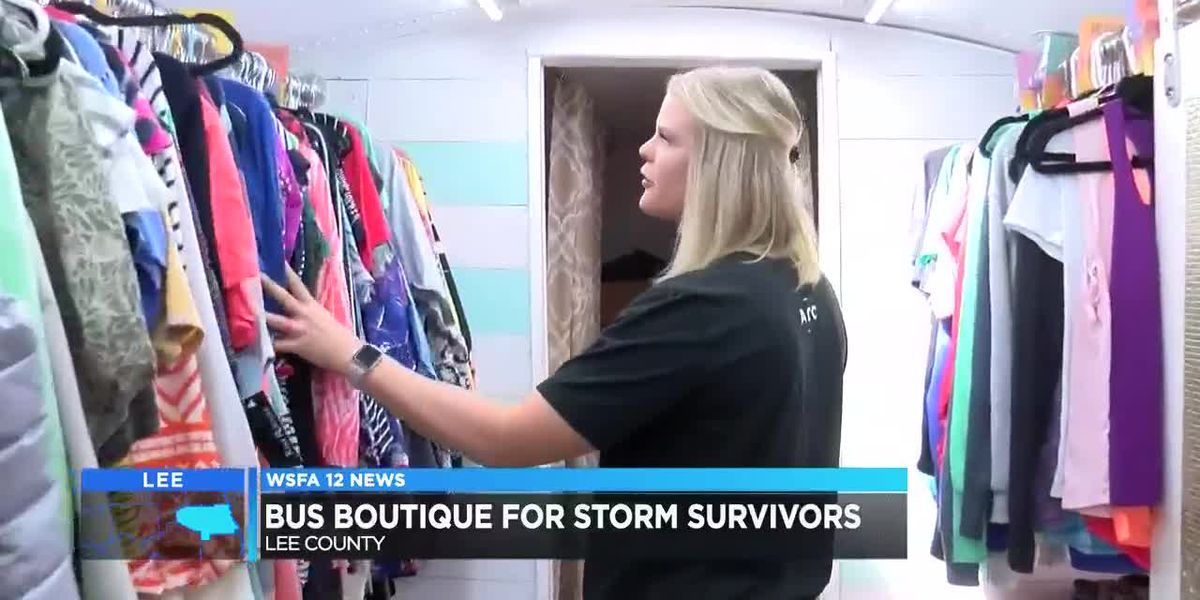 Bus boutique helps Lee County tornado survivors
