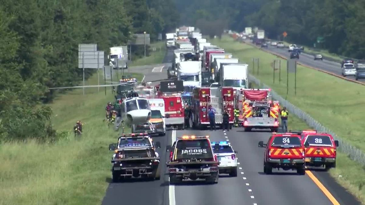 I-85 fully reopens hours after vehicle crashes, overturns