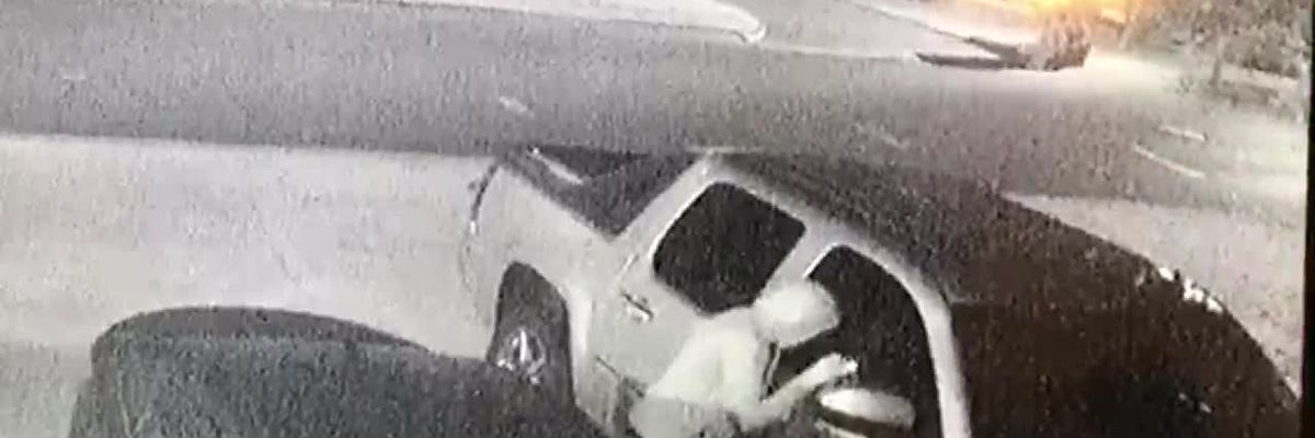 Video shows suspect breaking in to vehicles
