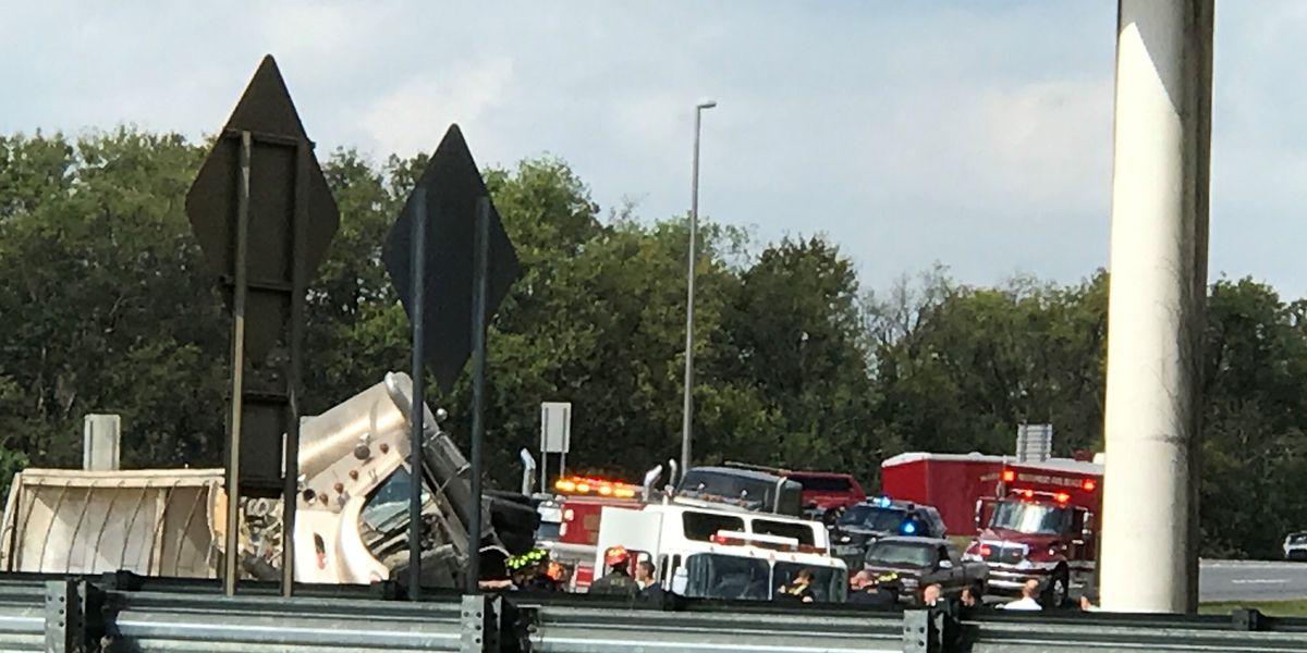 I-65/85 interchange ramp reopens after 18-wheeler crash removed