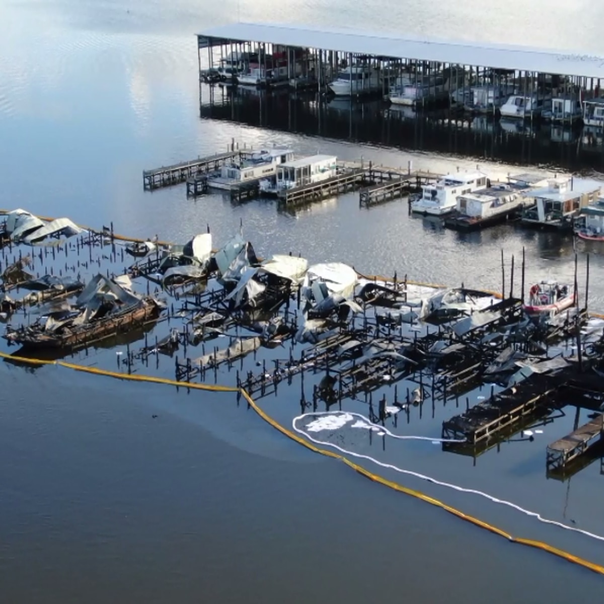 Coroner: four Jackson County marina fire victims are children