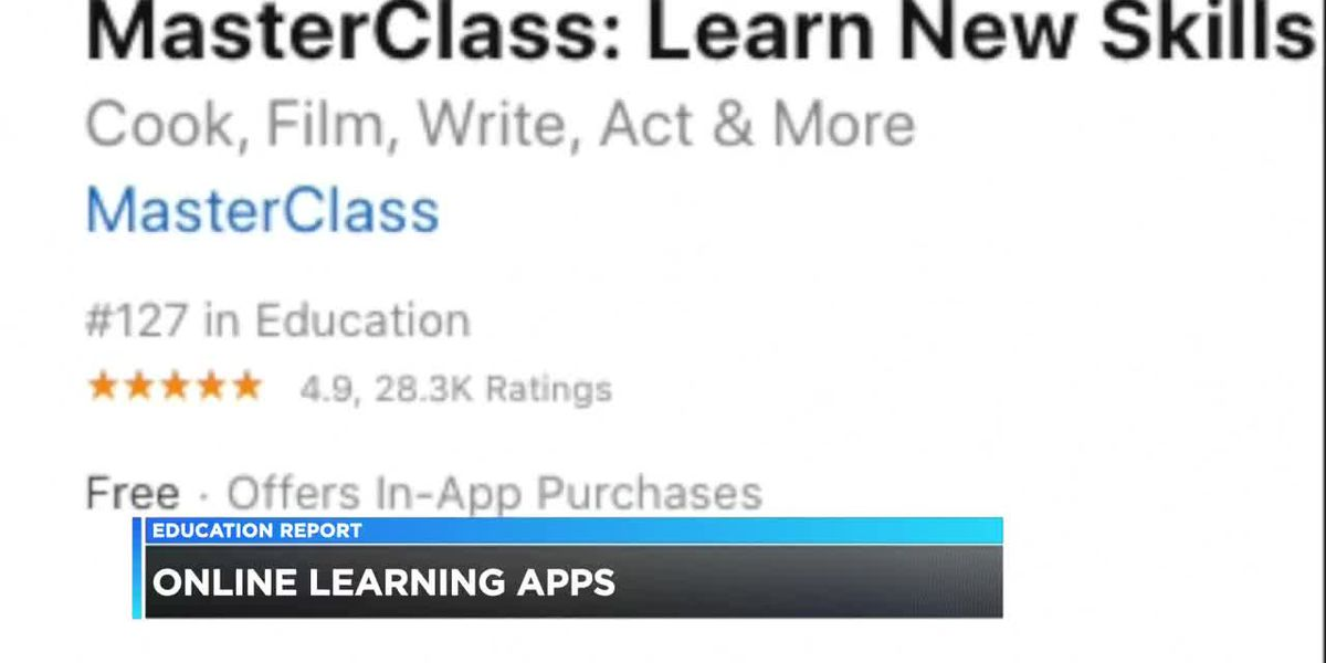 Online courses available through learning apps