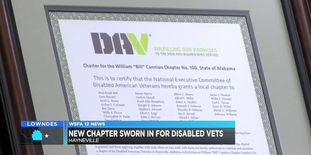 New chapter sworn in for disabled veterans