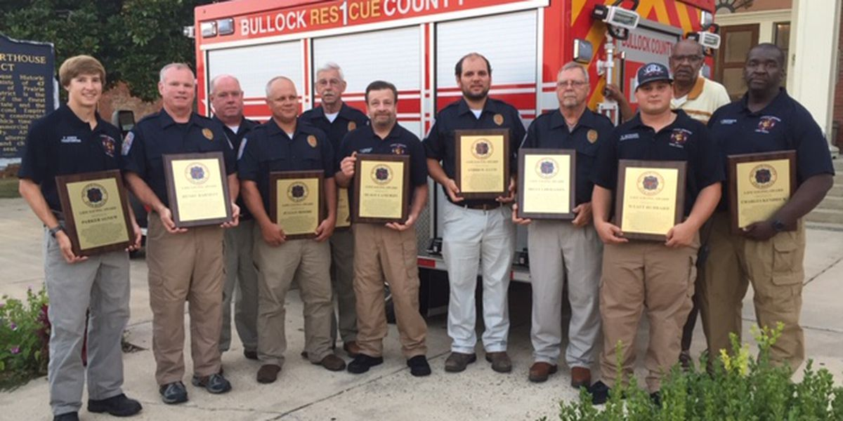 Volunteer firefighters honored in Bullock County