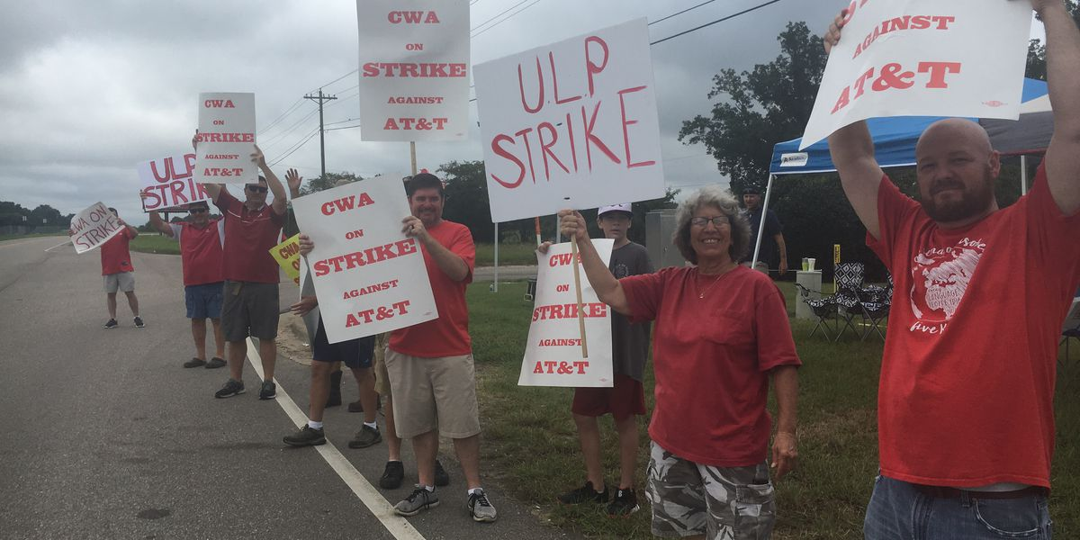 Over 20,000 AT&T workers in the South struck over weekend