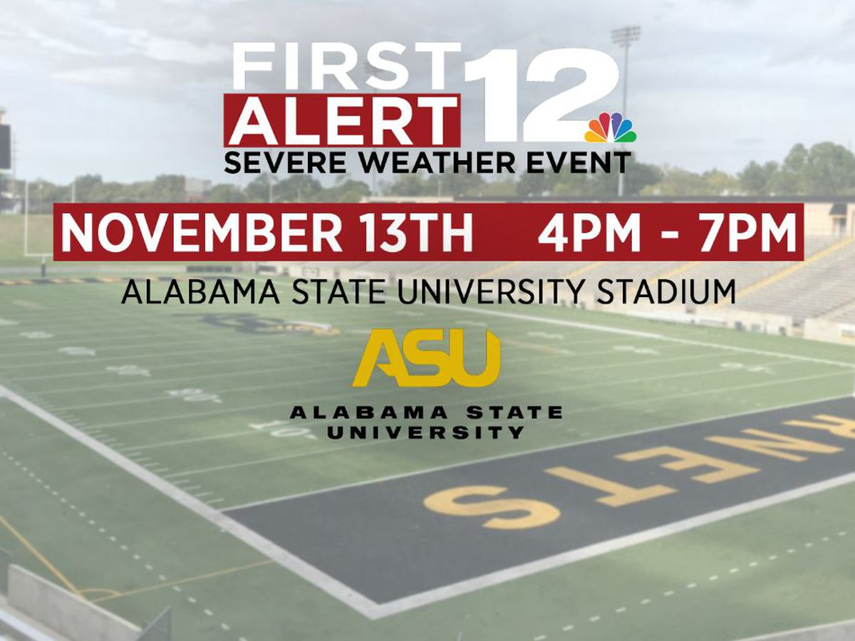 WSFA 12 News hosts First Alert Sever Weather event at ASU