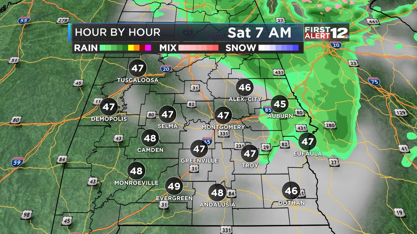 First Alert: Chilly with a few showers now, nice Easter
