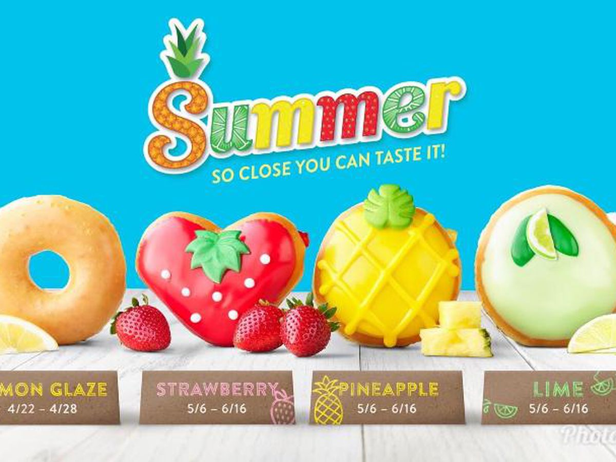 Krispy Kreme to release three fruit-filled donuts for the summer