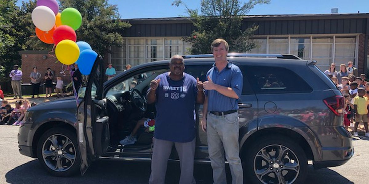 New car arrives for beloved Alex City Schools custodian